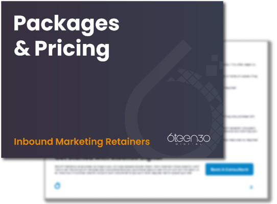 6teen30 Digital Inbound Marketing Packages and Retainers