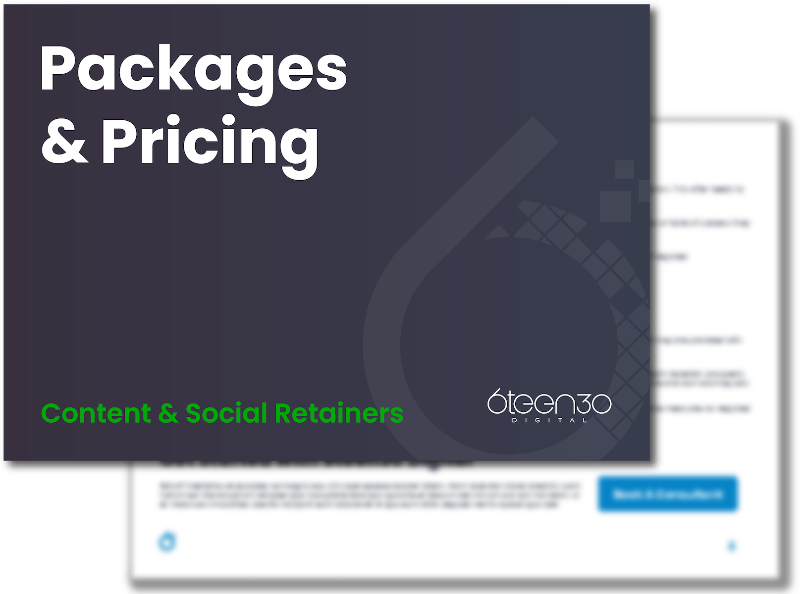 6teen30 - Content Social - Pricing And packages - No Space