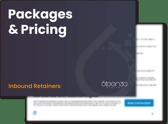 6teen30 Digital - Inbound vs Outbound - Inbound Retainer Pricing