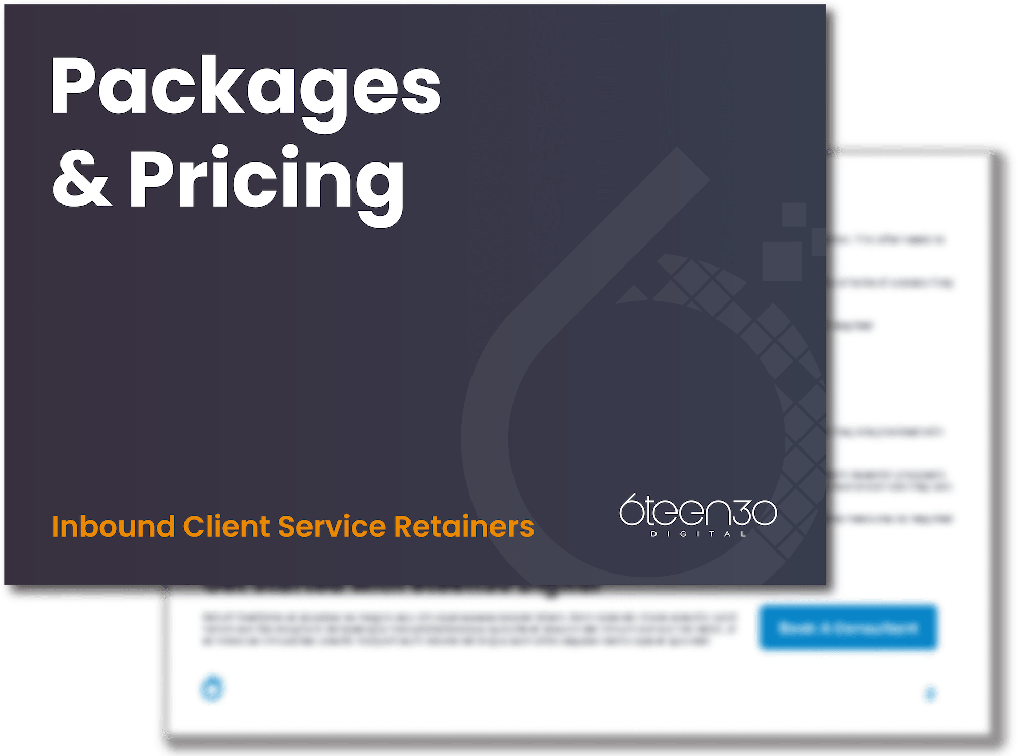 6teen30 Inbound Client Service Retainers Pricing Cover